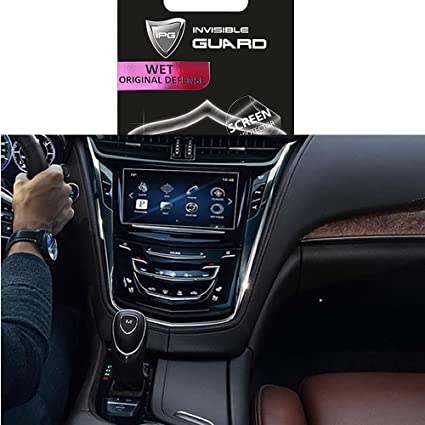 for Cadillac XTS8 CUE Touch 2014-2017 Navigation Touch Screen Sensitive  Protector Invisible Ultra HD Clear Film Anti Scratch Skin Guard -