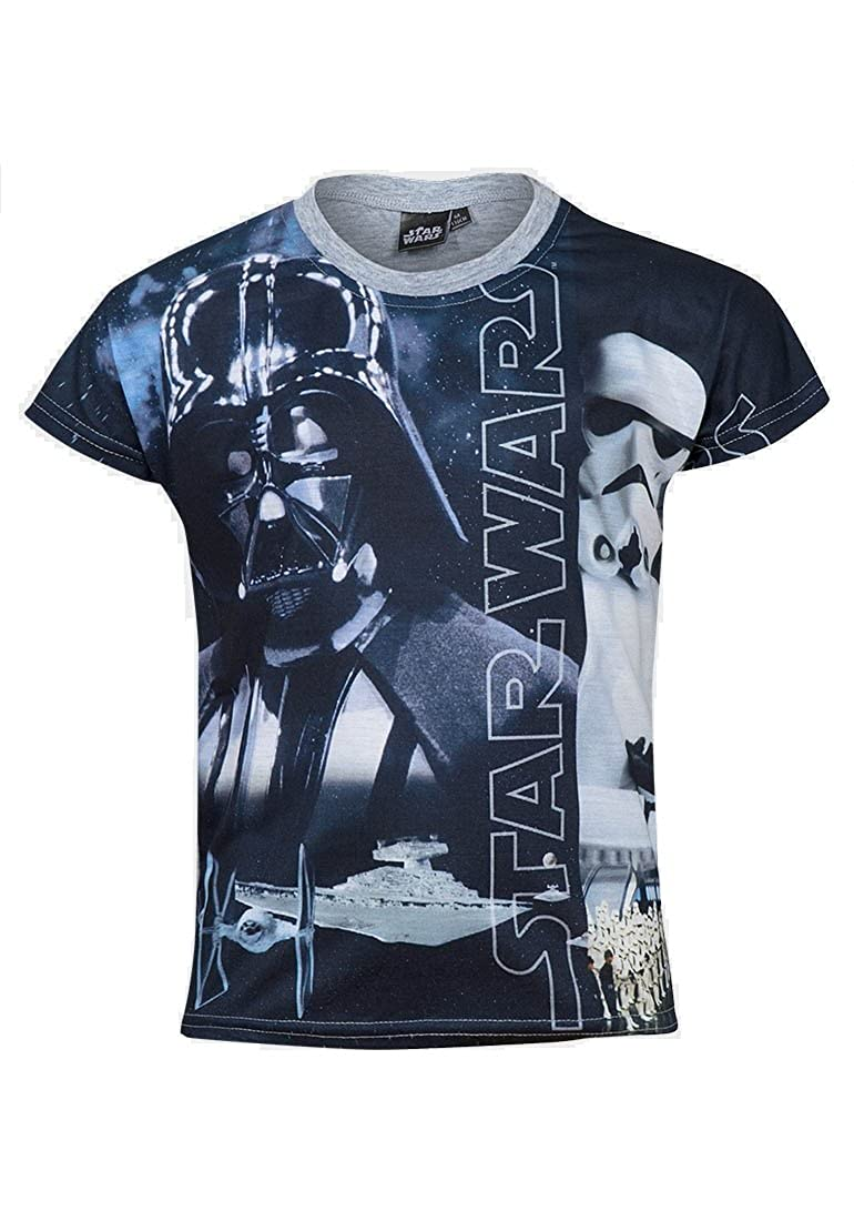 Boys Kids Star Wars Black Crew Neck T Shirt Ages 4-12 Years Available