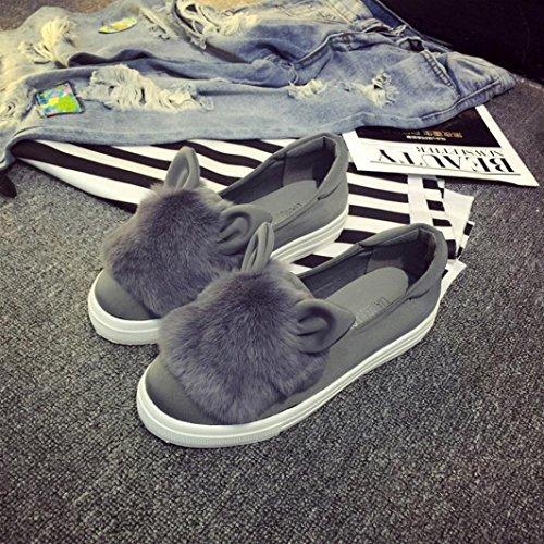JIANGFU Schuh,Nette Warme Frauen-Flache Schuhe Schuhe Frauen-Herbst-Winter-Schuh-Art und Weise GY