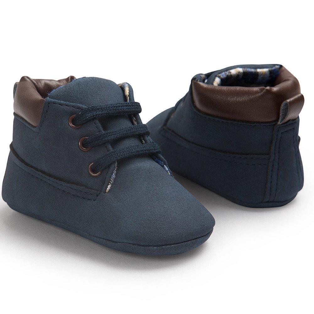 YanHoo Zapatos para niños Baby Toddler Soft Sole Zapatos de Cuero para bebés y niños pequeños Zapatos de bebé Botas de Nieve para niños Zapatos de otoño e ...
