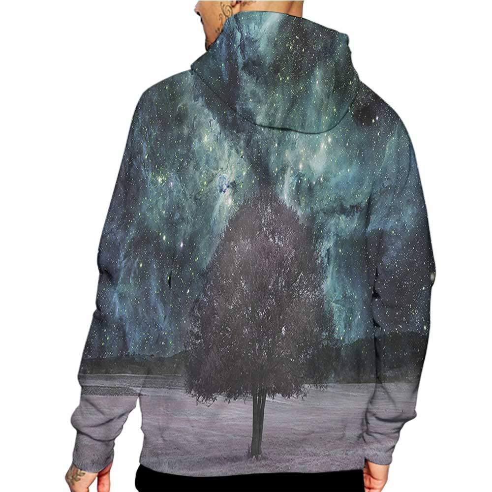 flybeek Hoodies Sweatshirt/Men 3D Print Skull,Scary Mountain Goat Skeleton,Sweatshirts for Men Prime