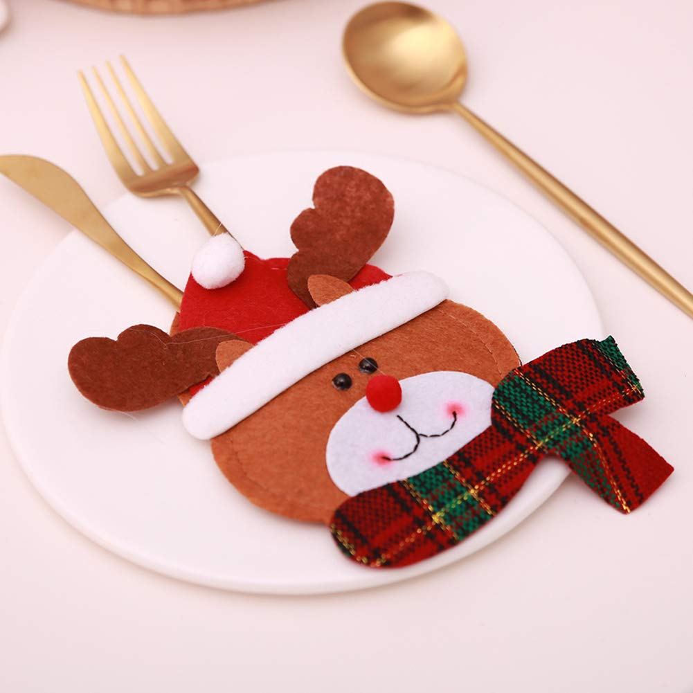 CHoppyWAVE Cutlery Pouch, Christmas Tableware Case Silverware Spoon Fork Holder Pocket Santa Dinner Decor - 3# by CHoppyWAVE (Image #9)