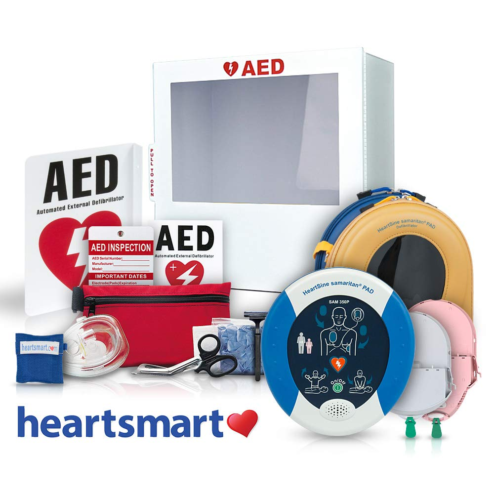 Heartsmart's AED for School and Church Defibrillator Package Heartsmart.com
