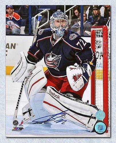 40eb0771b07 Sergei Bobrovsky Columbus Blue Jackets Autographed Goalie Action 8x10 Photo  - Signed Hockey Pictures