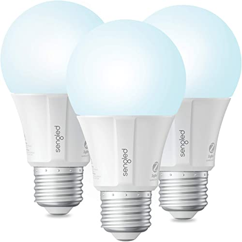 Sengled Smart Light Bulb, Smart Bulbs That Work with Alexa, Google Home Smart Hub Required , Smart Bulb A19 Alexa Light Bulbs, Smart LED Daylight 5000K , 800LM, 9W 60w Equivalent , 3 Pack