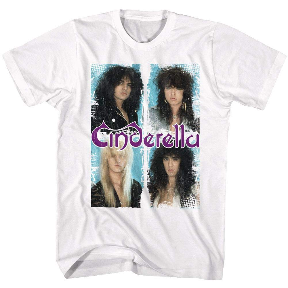 Cinderella Rock Band Boxed In Adult T-shirt Tee
