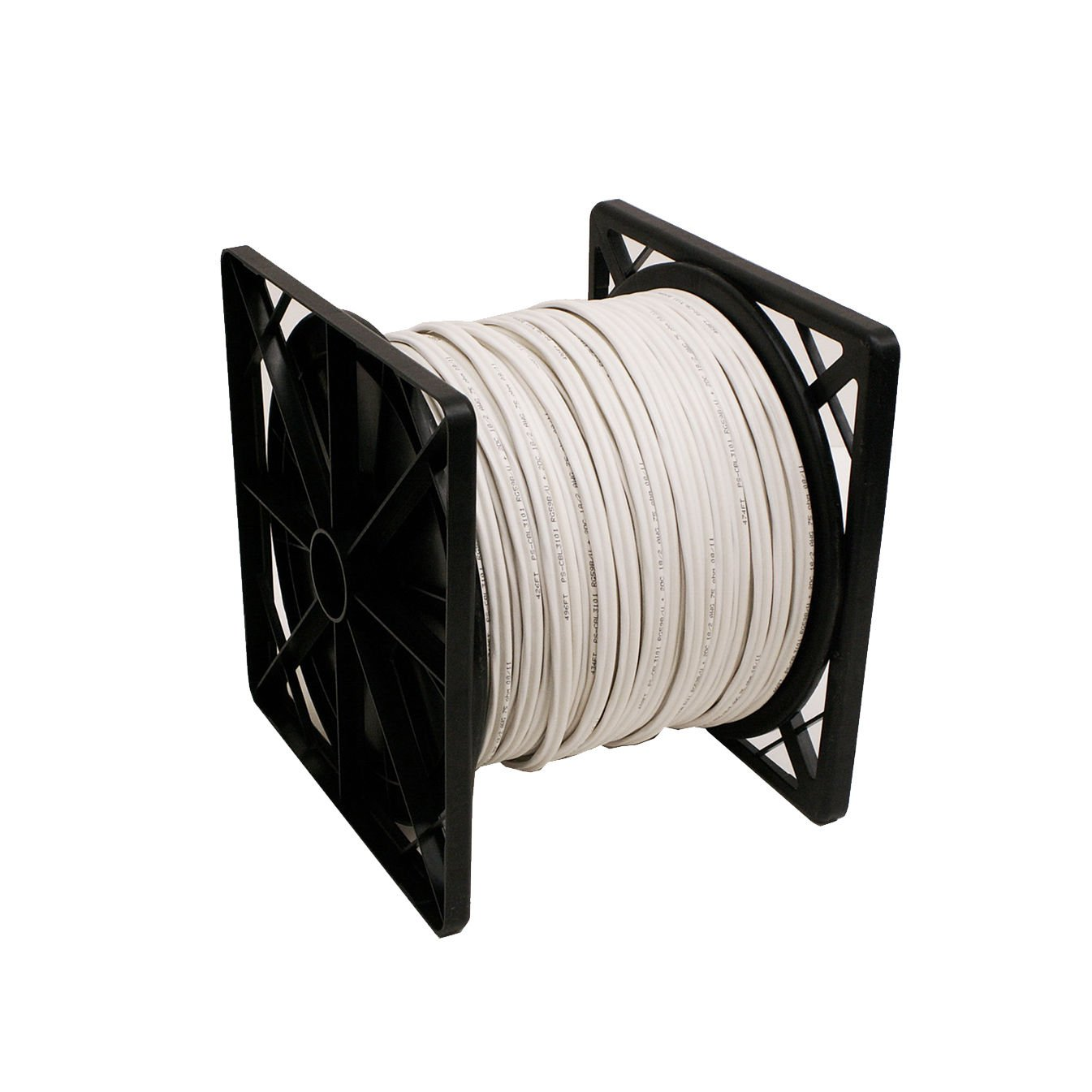 20AWG+18/2 CCTV SECURITY CAMERA WIRE SIAMESE COAXIAL CABLE 500FT BULK WHITE RG59