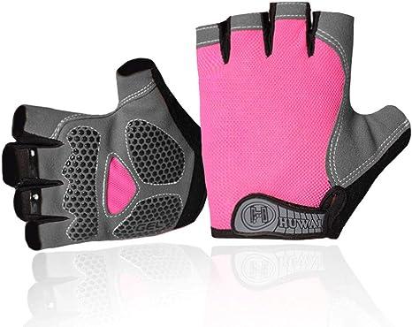 Gym Motorcycle ATV Full Finger Gloves Teenager and adult Blue Black Red Pink