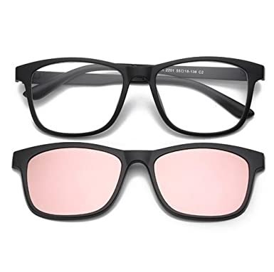 836030393d Image Unavailable. Image not available for. Color  Magnetic Clip on Polarized  Sunglasses Opical Glasses Frame Eyeglasses 2 In 1