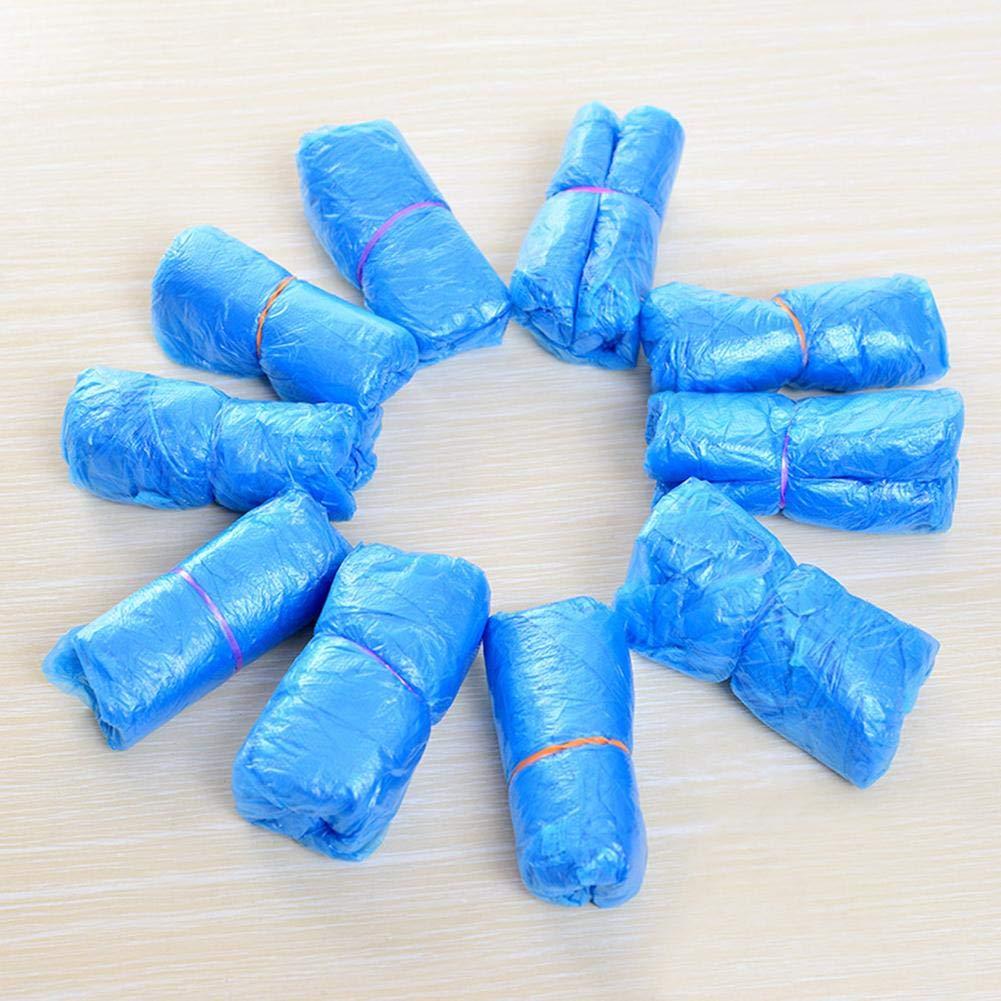 Krankenhaus /& BAU Eventualx Einweg-/Überziehschuhe blau 100er-Pack Schuh/überziehschuhe f/ür drinnen wasserabweisend Gr/ö/ße gro/ß f/ür die meisten
