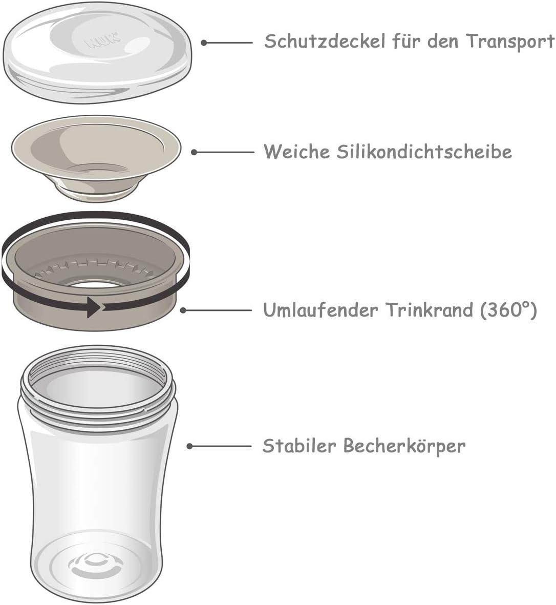 con incisione personale Olaf blu 230ml Tazza NUK Magic Cup per imparare a bere Frozen