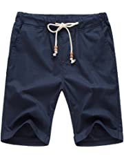 Our Precious Men's Linen and Cotton Casual Classic Fit Short