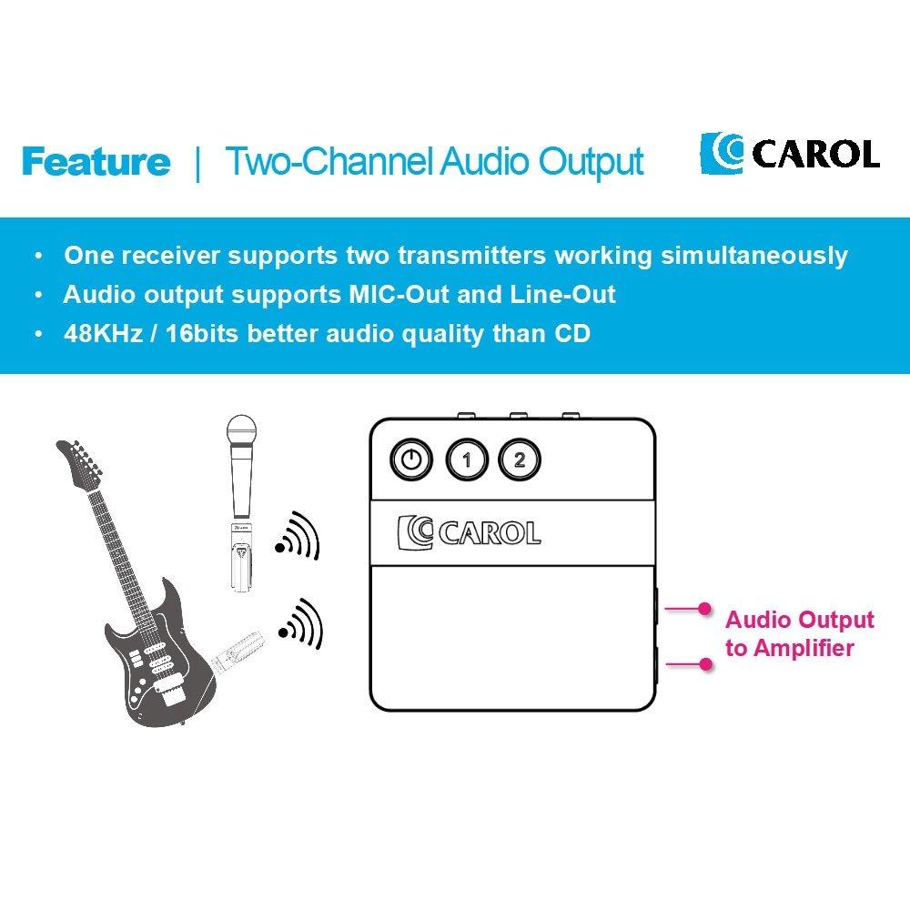Amazon.com: CAROL DW-26-RCD Portable 2.4G Digital Wireless ...