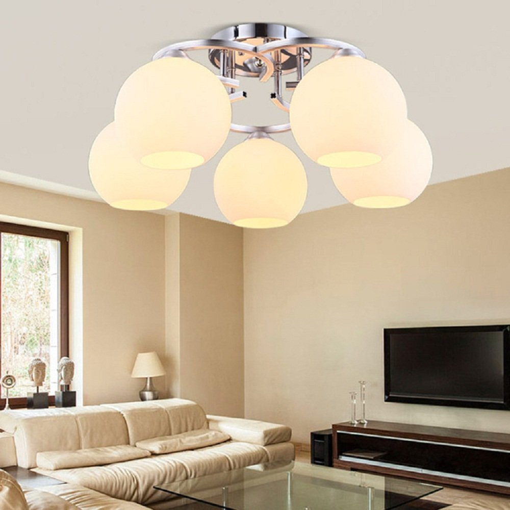 Modern lighting fixtures chandeliers with 6 light acrylic ceiling light bedroom lights warm led ceiling lamp crystal pendent light simple living room lamp