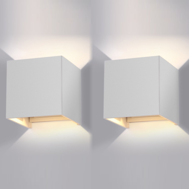 GHB 7W Lampada Esterna da Parete Applique da Parete Impermeabile ...