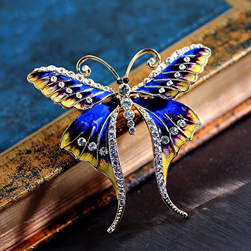 big-name high-end handmade cloisonne enamel cloisonne butterfly brooch pin badge pin goddess diamond boutique gift