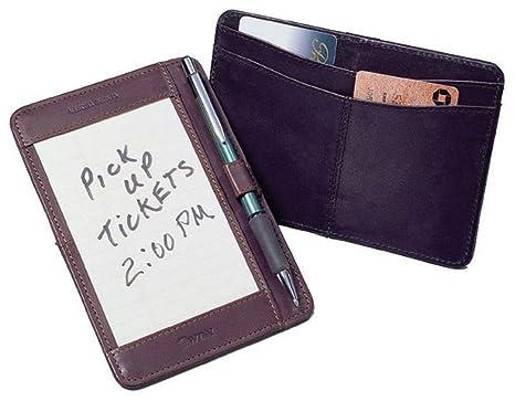 Cuir de vache poche slip pour cartes de note one size noir: amazon