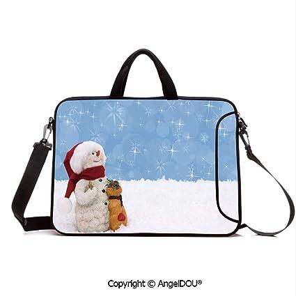 4b2b578a2e0c Amazon.com: AngelDOU Neoprene Printed Fashion Laptop Bag Winter Time ...