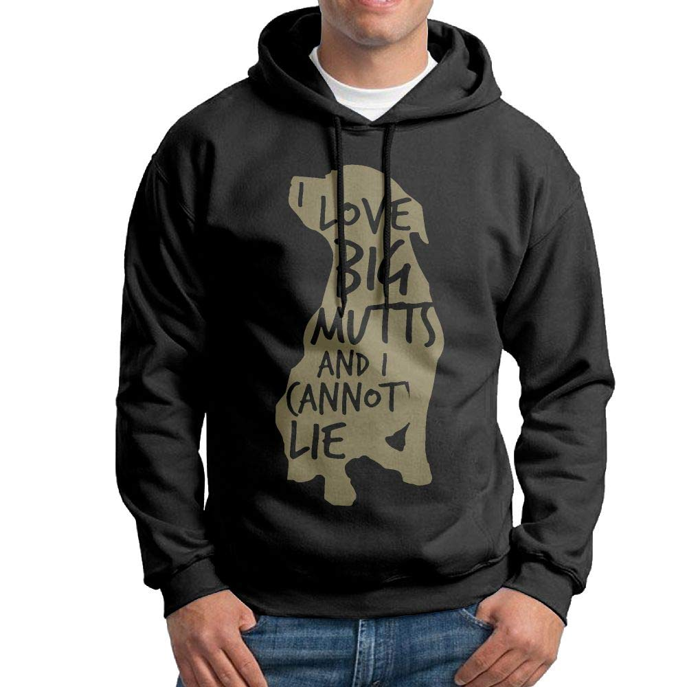 Warm I Love Big Mutts and I Cannot Lie Cotton Coat for Mens Mens Hooded Sweatshirt