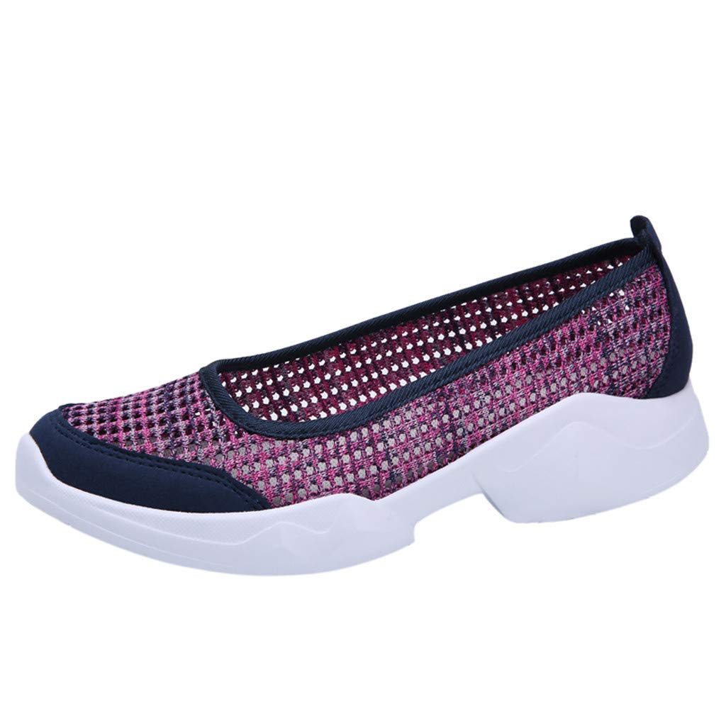 ZOMUSAR New! 2019 Fashion Women Outdoor Mesh Casual Sport Shoes Running Breathable Shoes Sneakers Hot Pink by ZOMUSAR