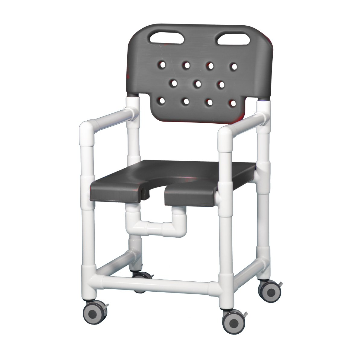 IPU ELT817 Elite Rolling Shower Chair for use over Toilet and in the Shower
