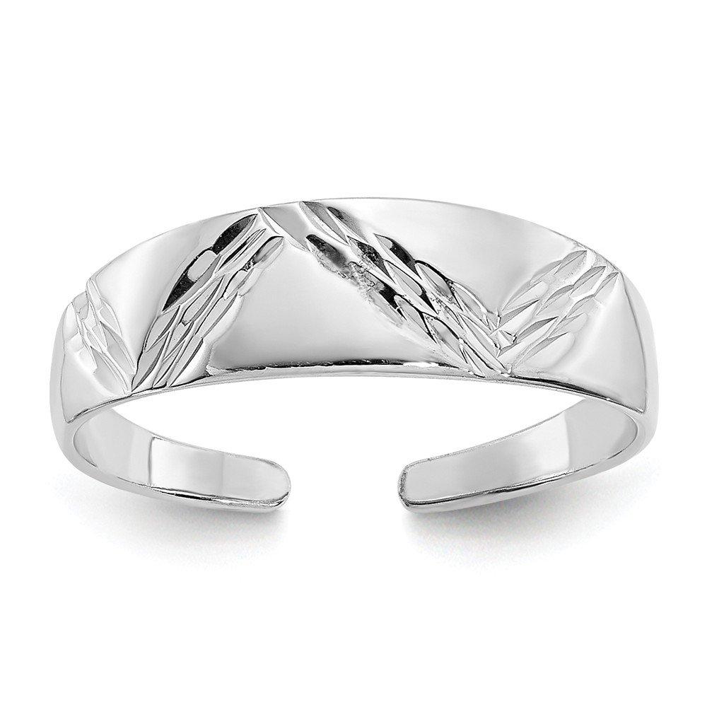 Mia Diamonds 14k Solid White Gold Fancy Toe Ring by Mia Diamonds and Co.