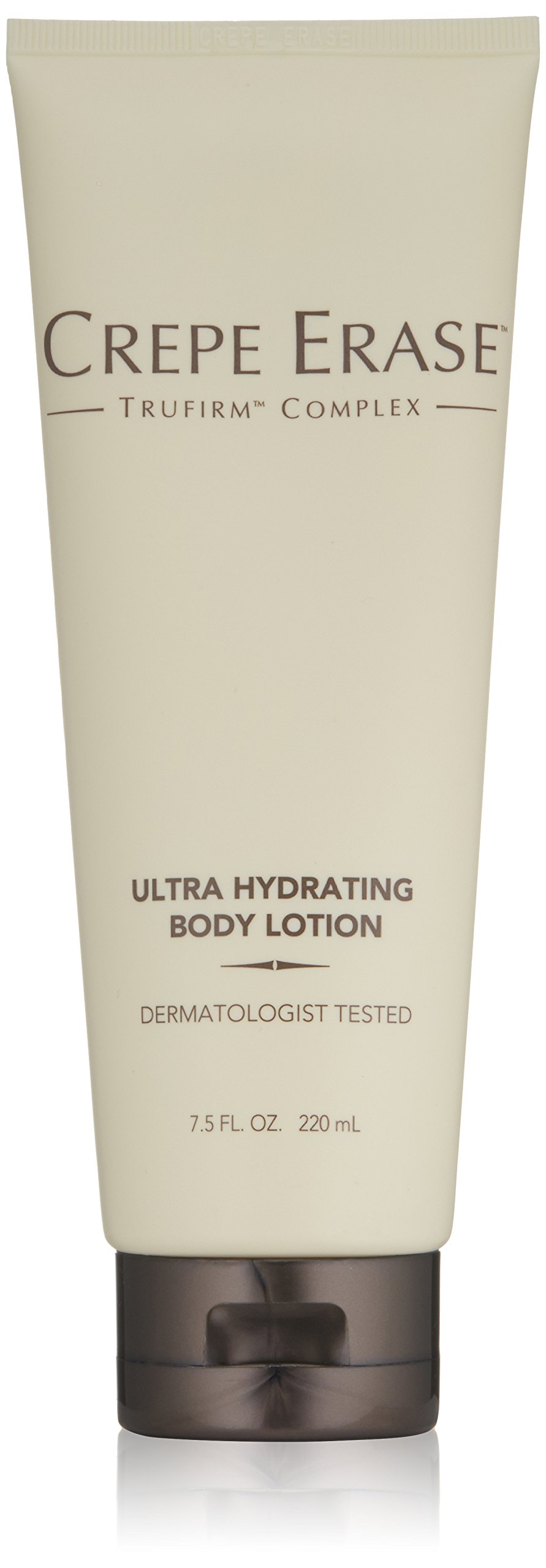 Crepe Erase – Ultra Hydrating Body Lotion – Non Greasy Plumping Treatment –Coconut Oil, Cocoa Butter, Jojoba Ester and TruFirm Complex – 7.5 Fluid Ounces – CS.0048
