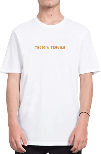 CultureFindsShop Tacos and Tequila Mexican Script Quote_CFS3657 Tshirt T-Shirt Shirt Men Camiseta para Hombres Mens, Shirts For Mens, Sports, Casual, Shirts For Mens, Sports, Casual, S White Men: Amazon.es: Ropa y accesorios