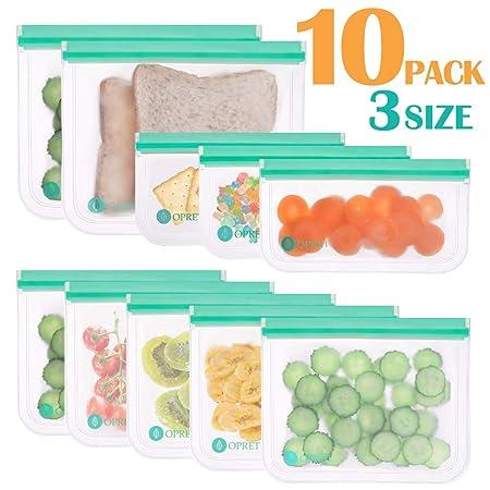 KitchenPRO Bolsas de selecona Alimentos Reutilizables de 10 pcs