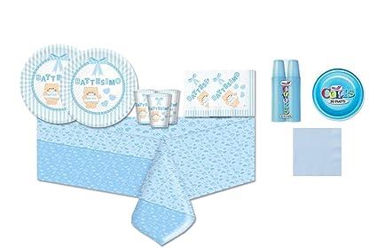 Piatti Di Carta Battesimo : Irpot kit pz coordinato battesimo bambino piatti bicchieri