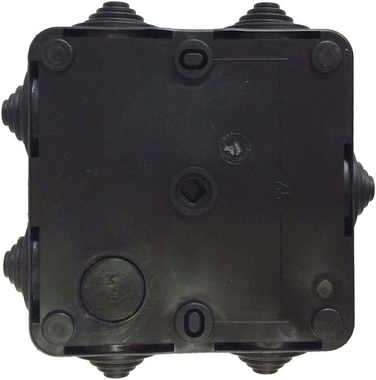 Pack de 4 x caja de derivación IP55 en negro HP80 externa CCTV tetera els IP Caja: Amazon.es: Iluminación