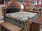 #3891 Black Gray Tone Bedspread King Southwest Reversible Classic Tribal Navajo