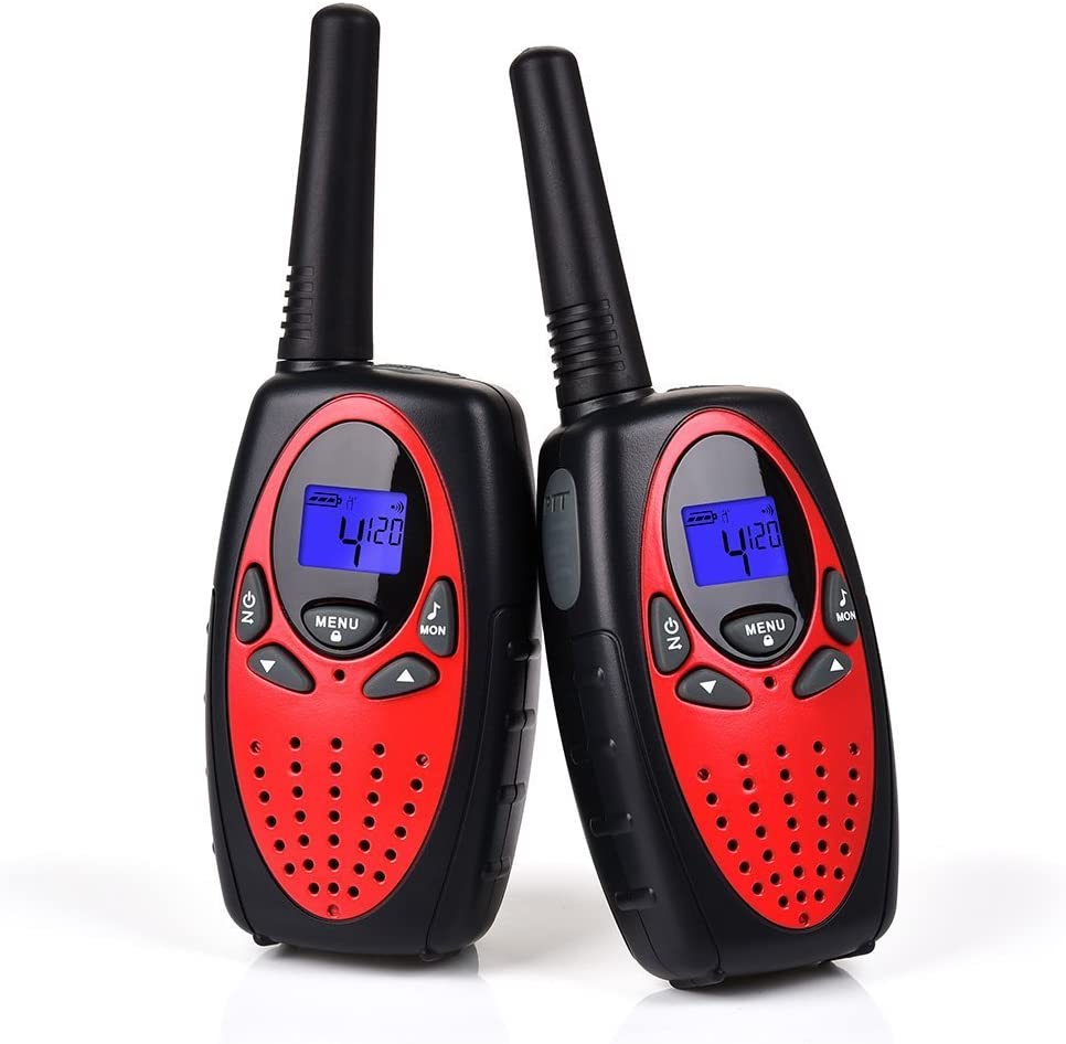 Swiftion Handheld Kids Walkie Talkies Rechargeable 22 Channel 0.5W FRS/GMRS Walky Talky for Kids 2 Way Radios (Red, Without Charger & Batteries)