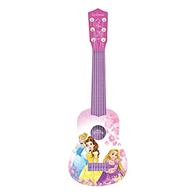 Lexibook Disney Princess Rapunzel My First Guitare, 6 Nylon Strings, 53 cm, Guide Included, Pink / Purple, K200DP: Toys & Games