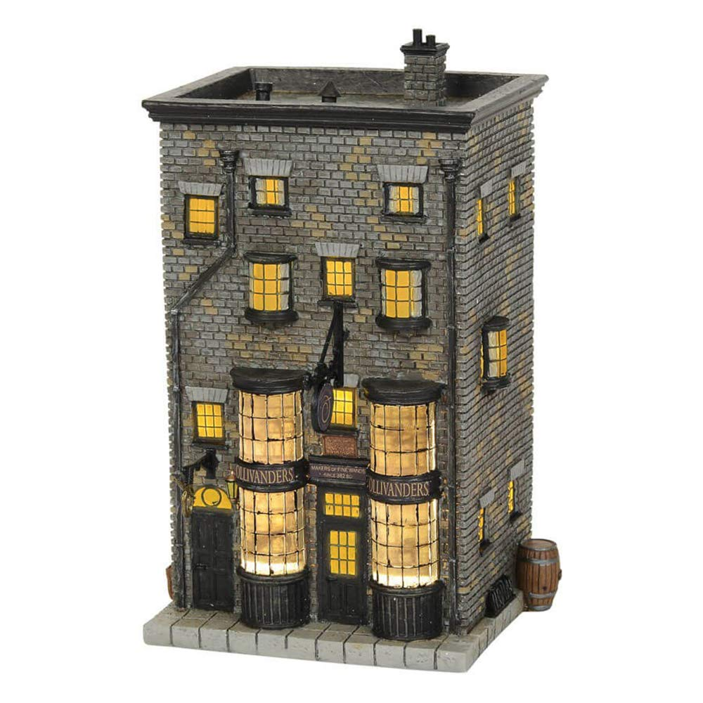 """Department56 Harry Potter Village Ollivanders Wand Shop Lit Building, 7.88"""", Multicolor"""