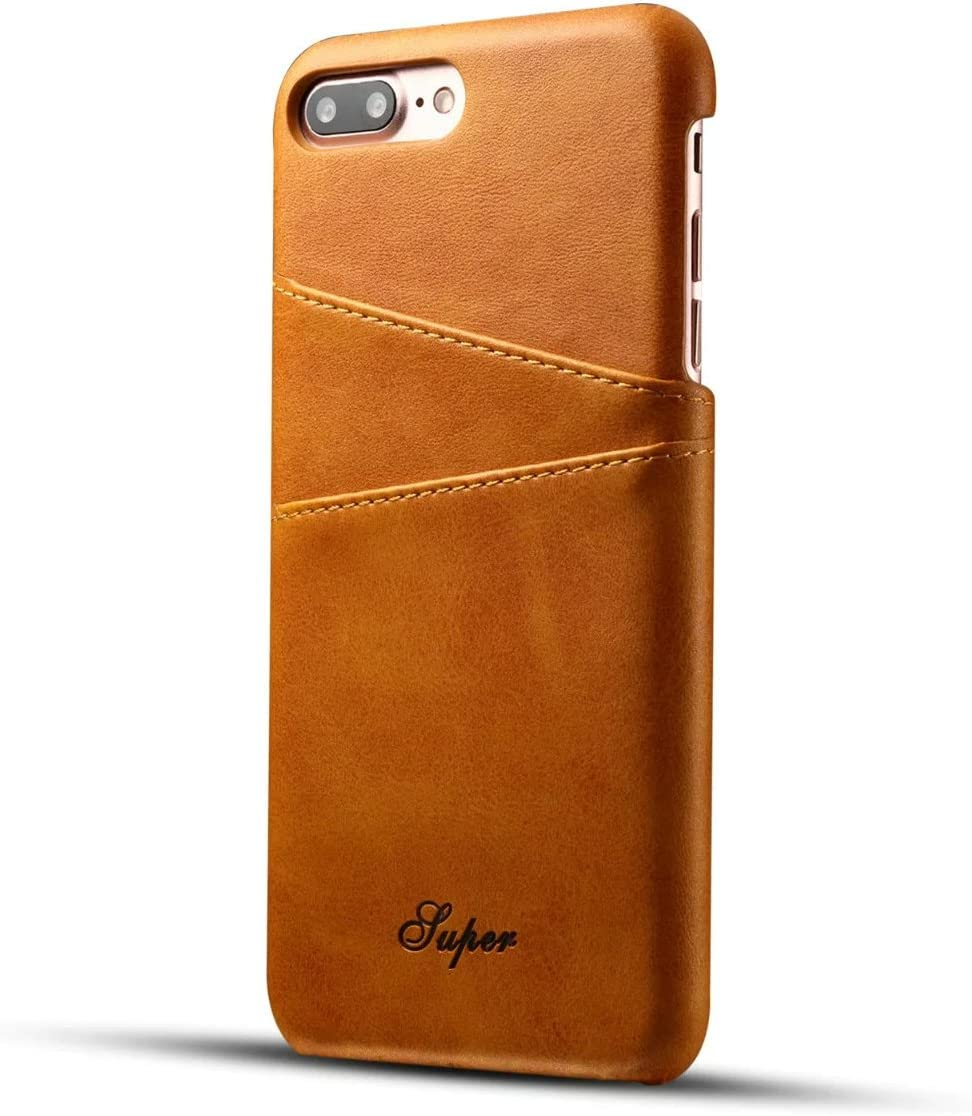 iPhone 7 Plus Leather Case, iPhone 8 Plus Premium PU Leather Wallet Case with Credit Card ID Holders, Business Style Fashion Print PU Leather Case Back Cover for iPhone 7 Plus/iPhone 8 Plus