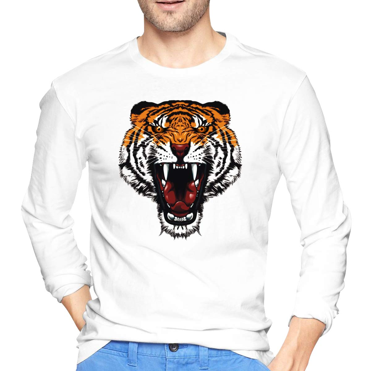 Tiger Will Bite Cool Graphic Printed T Shirt 4094