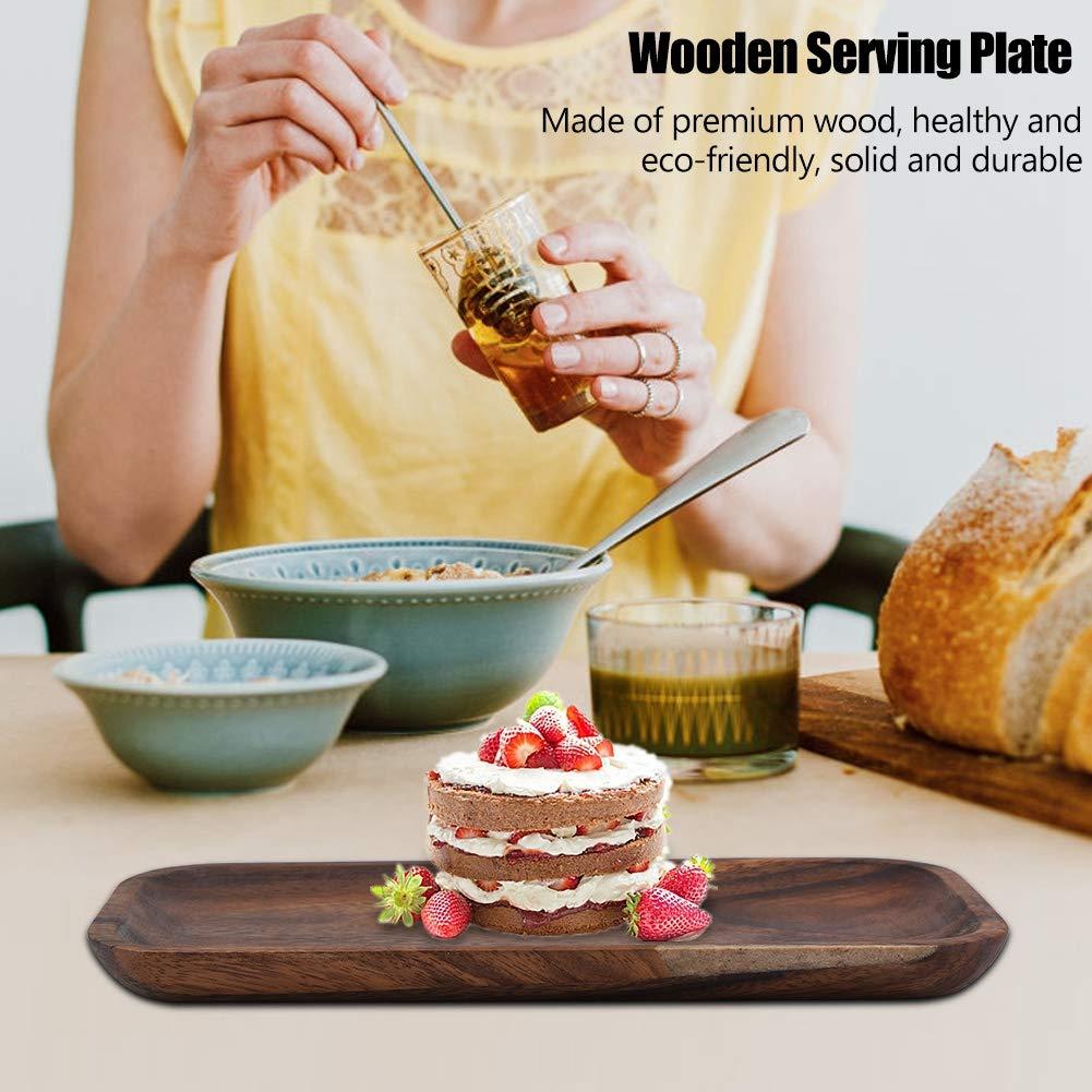 Elegant Sushi Tray Snacks Salad Desserts Wooden Serving Dish for Home Restaurant Hotel 16.5 * 12.5cm//6.5 * 4.92in