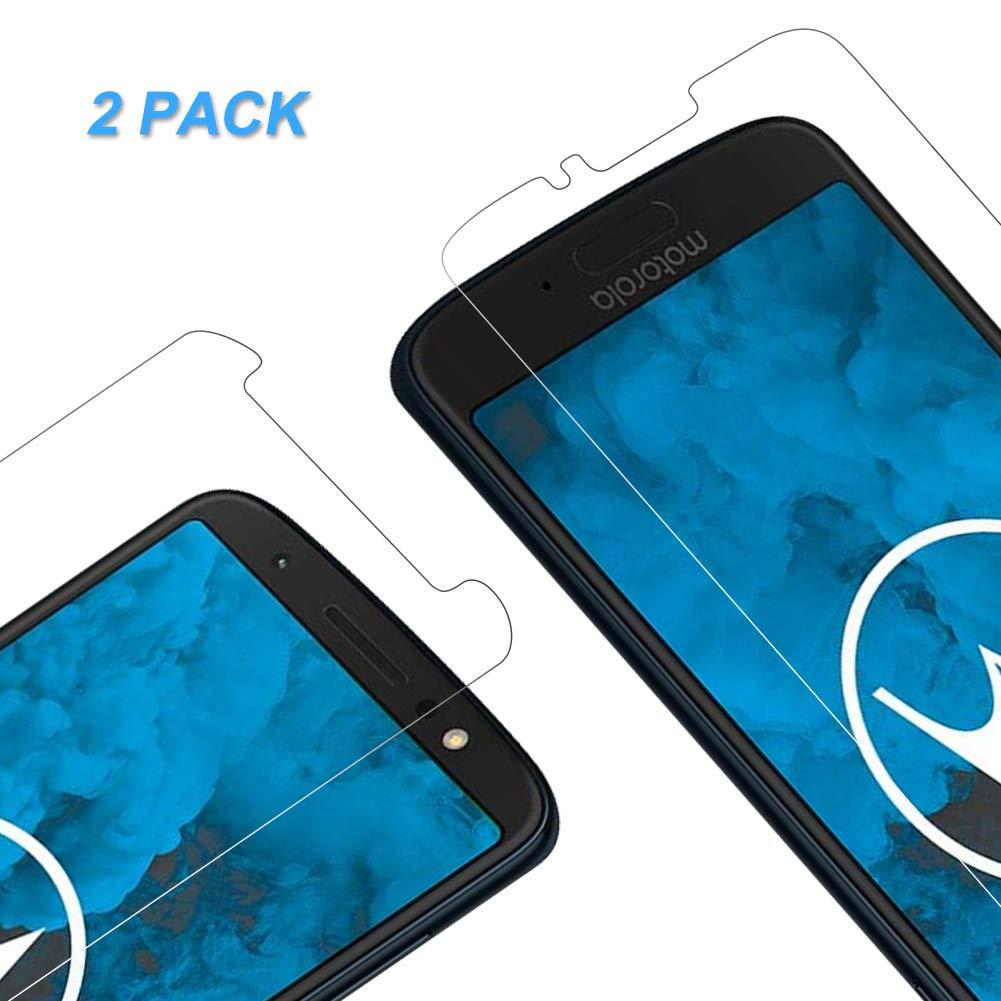 Pellicola Protettiva Motorola G6, Vkaiy Pellicola Vetro Temperato [Durezza 9H] [Alta trasparente] [Nessuna bolla] [Anti-impronte] [ Antigraffi], Facile da Installare - [2 Packs]