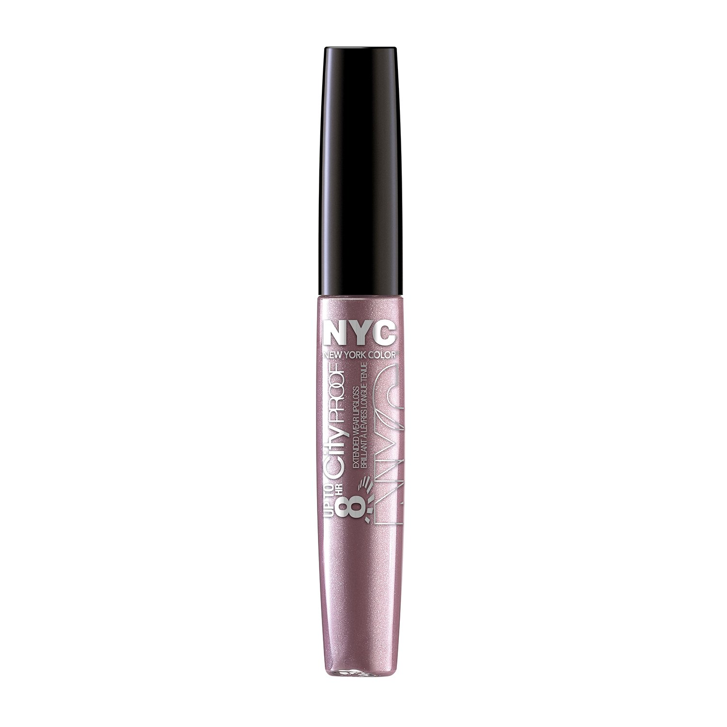 N.Y.C. New York Color 8 HR City Proof Extended Wear Lip Gloss, Blush Forever, 0.22 Fluid Ounce Coty