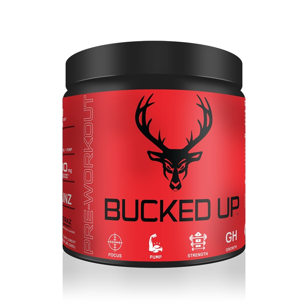 Bucked Up Pre Workout 6 Grams Citrulline, 2 Grams Beta Alanine, and 3 other registered trademarked ingredients (Blue Raz)