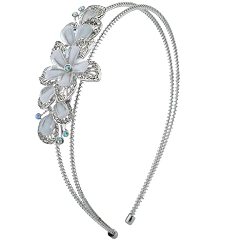 LUX accesorios de la mujer novia de dama Pearl elástico bobina de metal diadema accesorio para la ca...