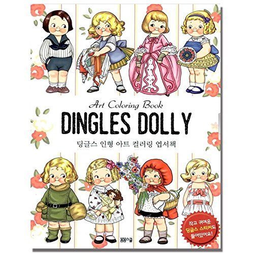 Dolly Dingle Stress Relieving Coloring Postcards Set Anti Book Color Therapy Stationery Note Cards 40 4 Sticker Sheets