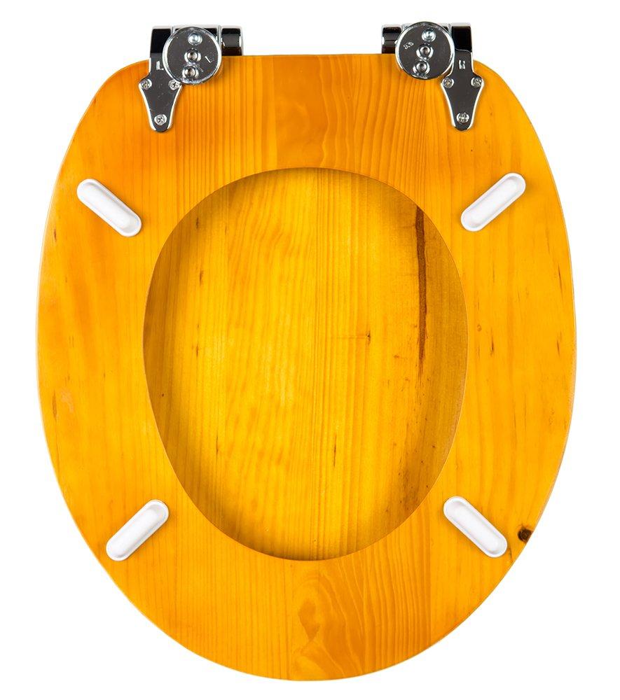 Gris Fixation Facile Abattant WC Frein de Chute Soft Close Finition de Haute qualit/é