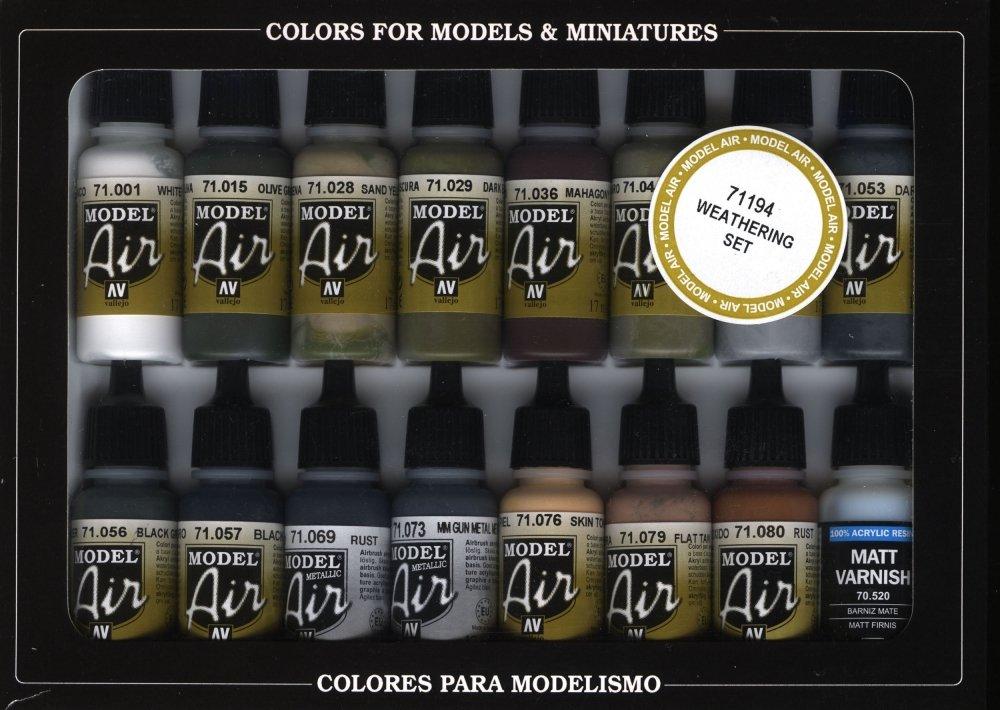 Vallejo Weathering Model Air Paint, 17ml