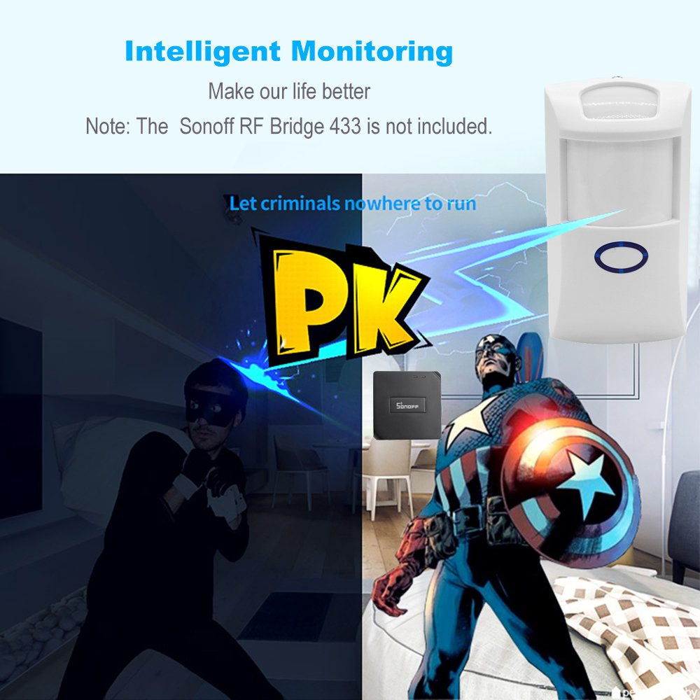 Sonoff PIR Motion Sensor Wireless Dual Infrared Detector