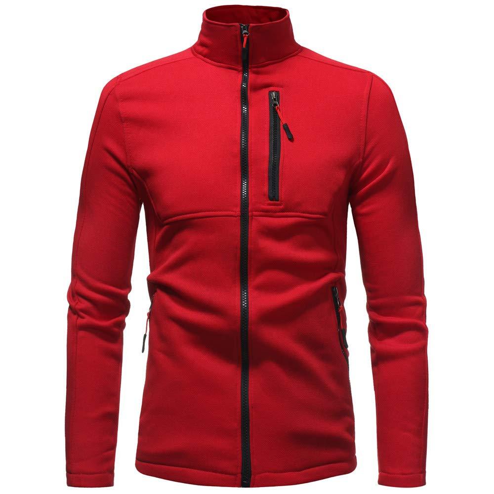 Luckycat Herren Herbst Winter Solid Langarm Zipper Hooded Sweatshirt Pullover Mantel Top Mode 2018 LUCKYCAT Herren kapuzenpullover TWO