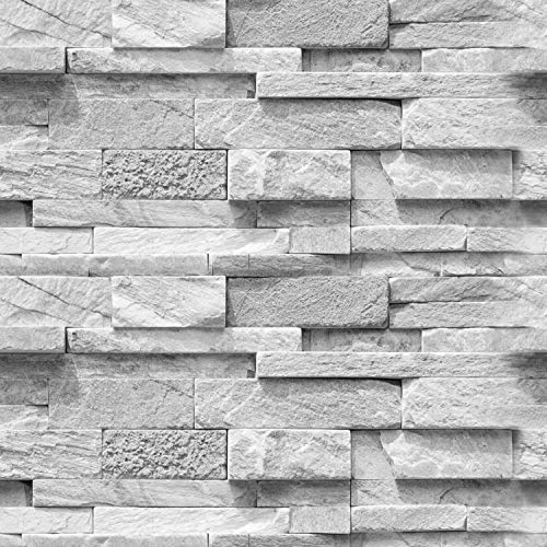"""artgeist Wallpaper Faux Stone 19,3"""" x 393,7"""" 3D Peel and Stick Self-Adhesive Decorative Foil Wall Mural Removable Sticker Premium Print Picture Image Design Home Decor f-A-0691-an-b"""