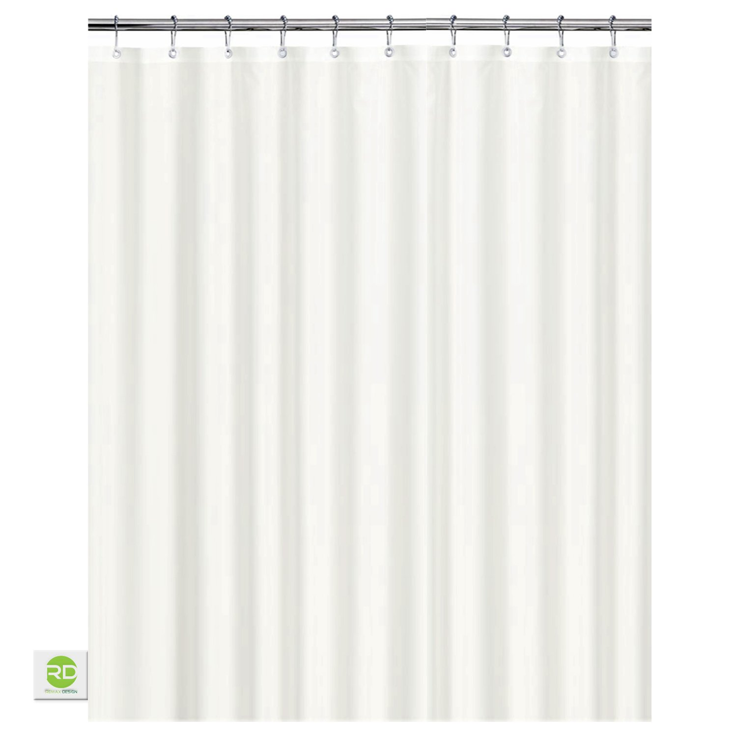 Bathroom plastic curtains - Mildew Resistant Fabric Shower Curtain 72x72 White Polyester Curtain For Bathroom Waterproof Odorless Eco Friendly Anti
