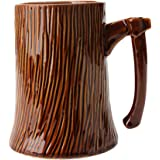 TOPBATHY Ceramic Coffee Mug Stump Axe Water Cup Milk Cup Drinking Mug for Tea Cocoa Home Office School Supplies 600ml